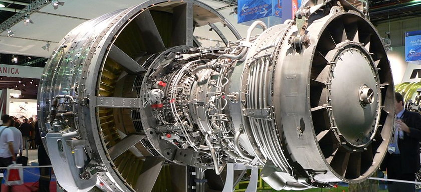 CFM56 high-bypass turbofan aircraft engine | by David Monniaux, via Wikimedia Commons